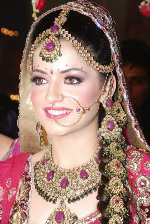 Bride donning Nose Ring (Nath)