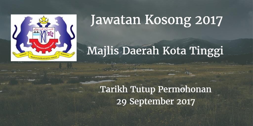 Jawatan Kosong MDKT 29 September 2017