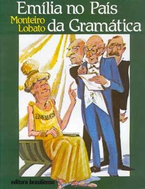 emília no país da gramática - monteiro lobato - editora brasiliense - sítio do picapau amarelo - manoel victor filho - jacob levitinas - década de 1990 - década de 2000 - capa de livro - bookcover