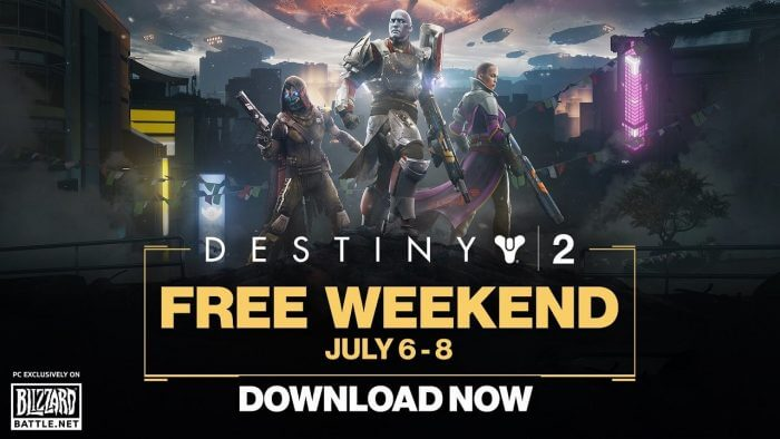 Destiny 2 Is Free To Play This Weekend Via Battle.net
