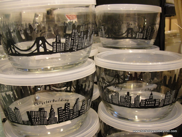NYC skyline kitchen items at Fishs Eddy shop in NYC