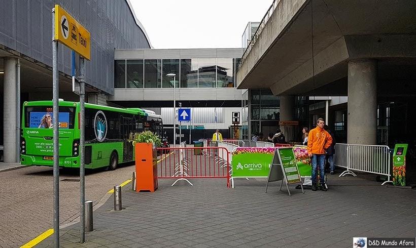 Diário de Bordo - 2 dias em Amsterdam - ônibus para Keukenhof