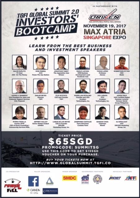The Global Filipino Investors Global Summit 2.0 Investors Bootcamp