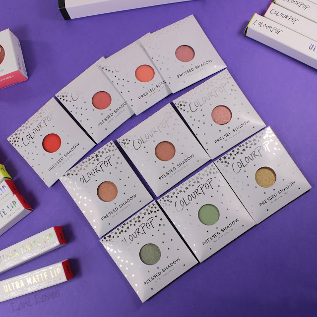 ColourPop Pressed Shadows Swatches & Review