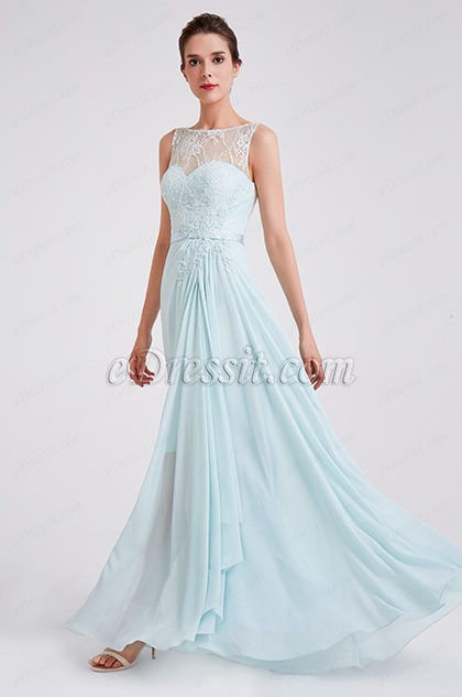 New Elegant A Line Chiffon Evening Party Dress