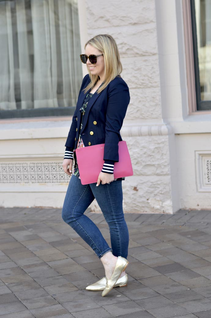 cute spring outfit with blazer