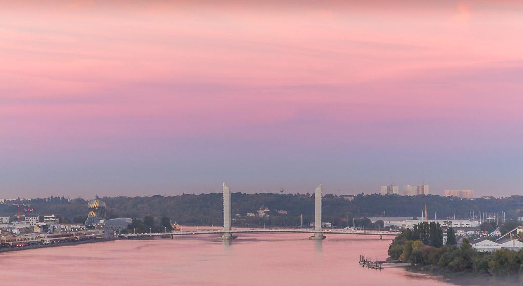 pont chaban delmas coucher de soleil