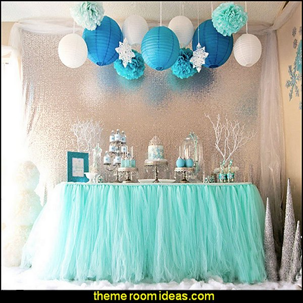 Snowflake Tutu Table Cloth  for Girl Princess Party Baby Shower Wedding Birthday Parties