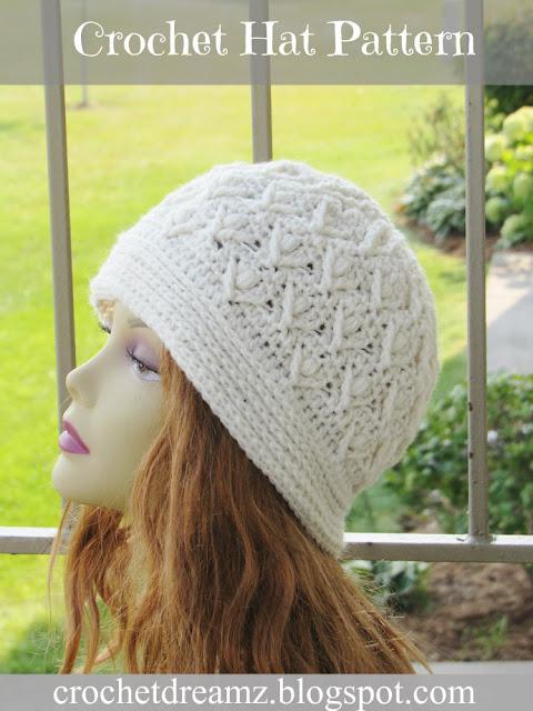 Textured Beanie Hat Crochet Pattern
