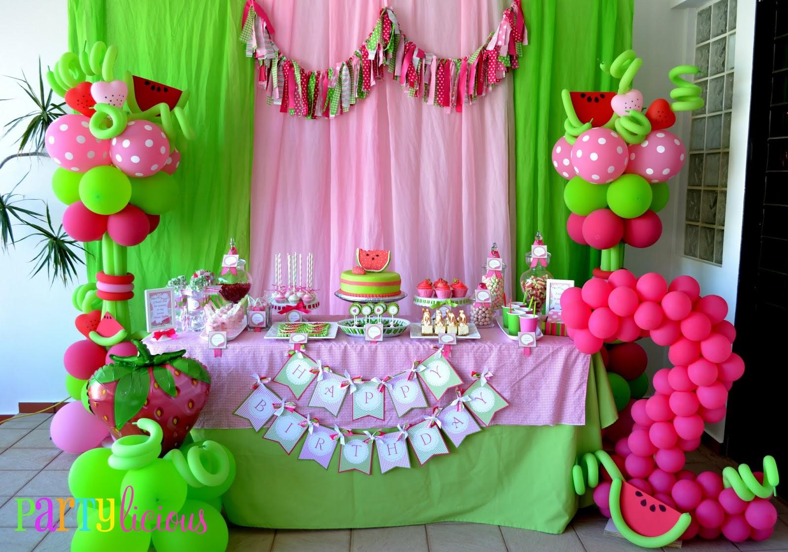 Partylicious Events Pr Watermelon Berry Happy Birthday