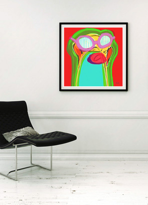 art print, artwork, buy art print, contemporary art print, original art print, abstract art print, portrait art print, large art print, modern art print, multi coloured art print, Sam Freek,