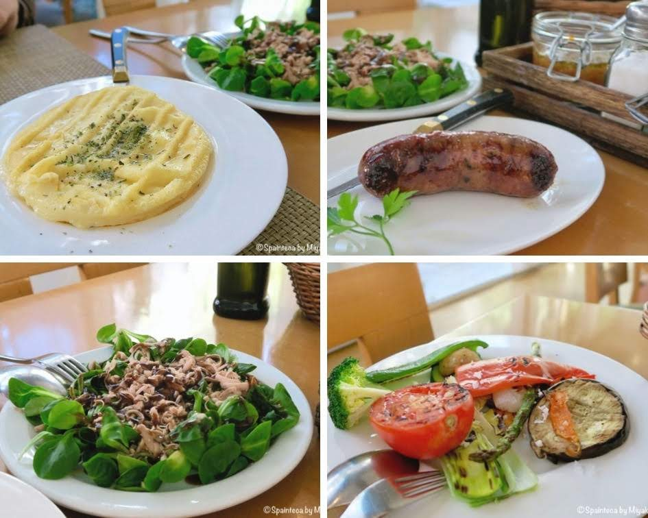Beef Palace マドリードのステーキ屋の料理の数々