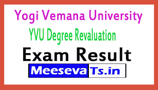 Yogi Vemana University Degree Revaluation Exam Results 2017