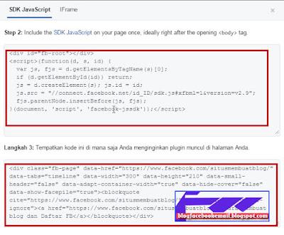 cara memasang kode kotak suka jempol di blog