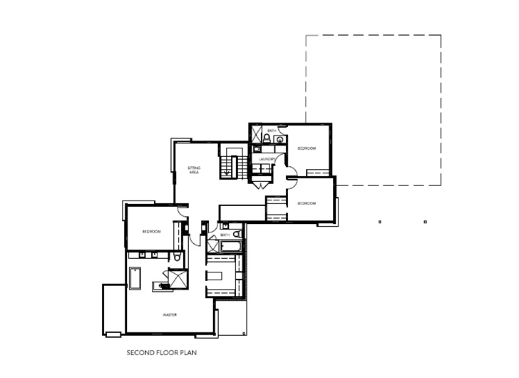 First floor plan of Amazing Ottawa River House by Christopher Simmonds Architect