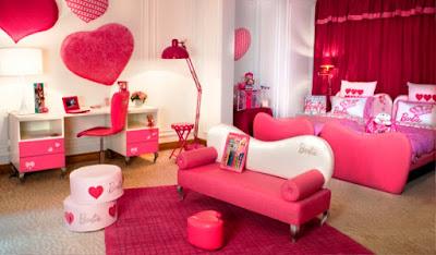 Kamar Tidur Anak Perempuan Cantik Tema Barbie