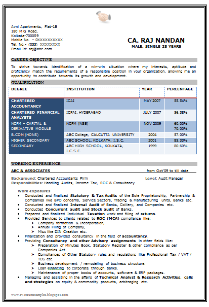Cv Format In Word For Ca | Resume Maker: Create Professional