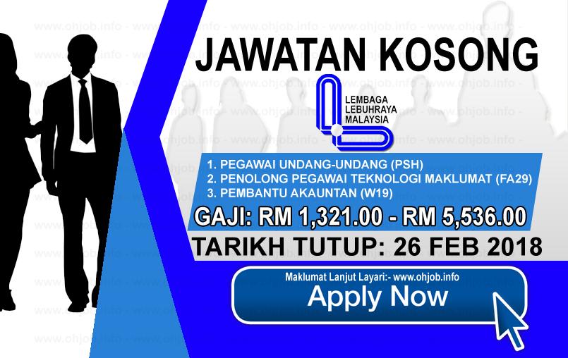 Jawatan Kerja Kosong Lembaga Lebuhraya Malaysia - LLM logo www.ohjob.info februari 2018