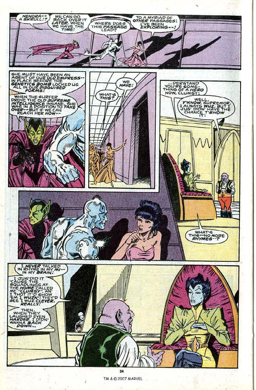 Read online Silver Surfer (1987) comic -  Issue #30 - 26