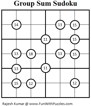 Group Sum Sudoku (Mini Sudoku Series #22)