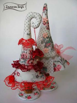 Новогодняя елочка из ткани своими руками