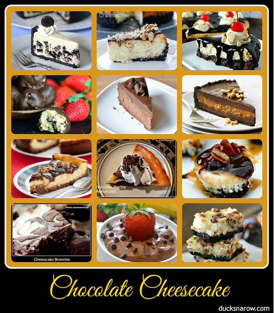 12 Best Chocolate Cheesecake R#chocolate #cheesecake Ducks 'n a Row