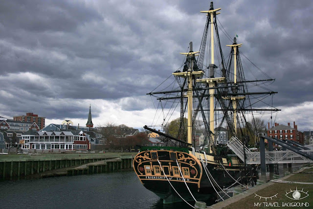 My Travel Background : Halloween à Salem - Salem Maritime - le Friendship of Salem, la réplique d'un bateau de 1797