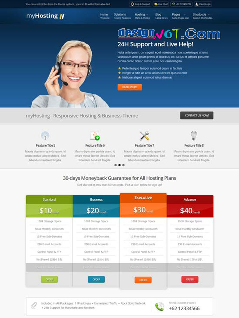 myHosting - Responsive Hosting and Business Theme