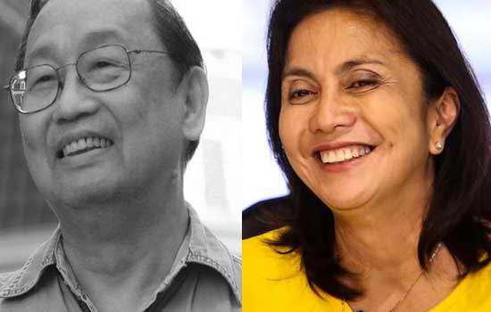 Jose Sison congratulated Leni Robredo: 'She done better than her running mate'