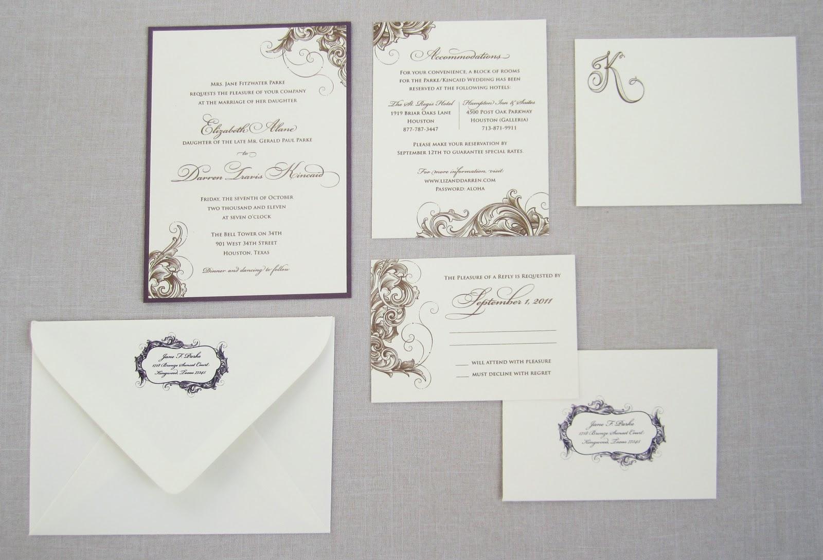 Wedding Invitation Outer Envelope: Tailored: Looking Back On New Design: Liz & Darren's