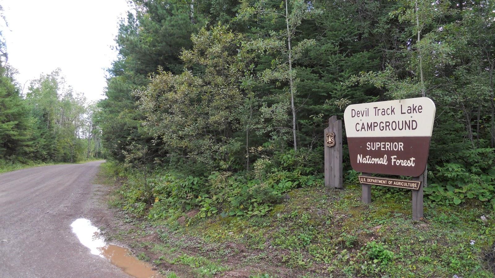 National Forest Camper: Devil Track Lake Campground
