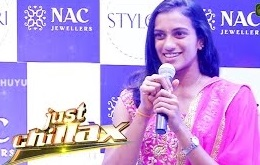 P.V.Sindhu Inaugurates NAC Jewellers at Chennai | Just Chillax 30-09-2016 Puthuyugam Tv