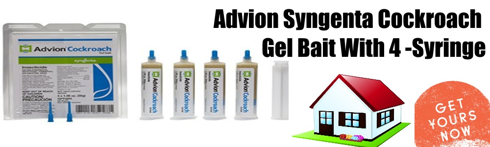 Advion Syngenta Cockroach Gel Bait 4-Syringes