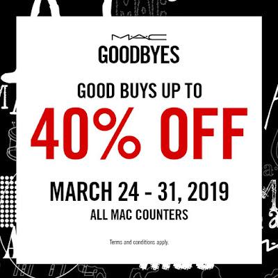 40% off on MAC cosmetics