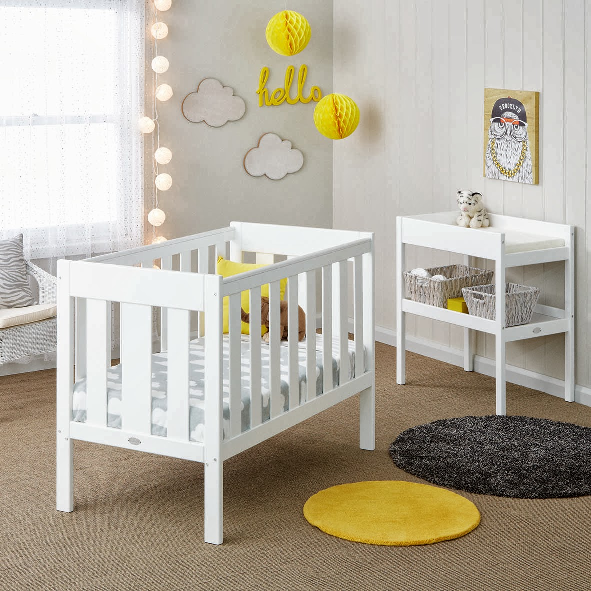Cot Bedding Australia White Nursery Furniture Sets Australia Thenurseries