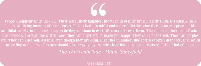 thirteenth tale diane setter field quotes