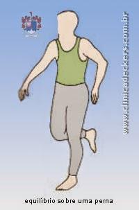 Distensão da Musculatura da Panturrilha - Equilíbrio sobre uma perna