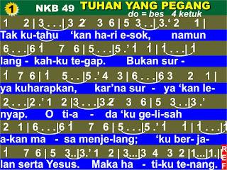 Lirik dan Not NKB 49 Tuhan Yang Pegang