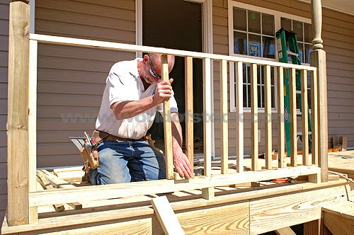 Landscape Design Ideas How To Build A Simple Wooden Deck Rail