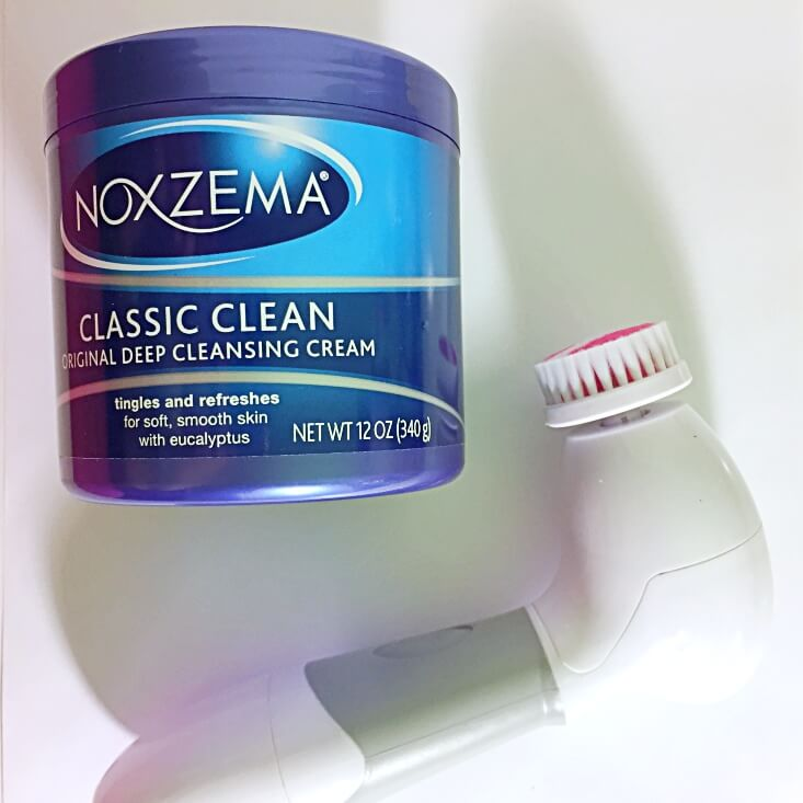 Noxzema and facial cleansing brush
