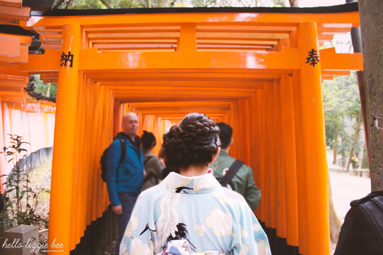 fushimi inari taisha torii gates walk