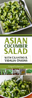 Asian Cucumber Salad with Cilantro and Vidalia Onions from KalynsKitchen.com