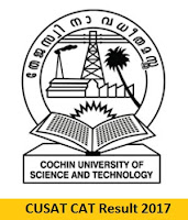 CUSAT CAT Result 2017