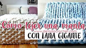 DIY Cómo Tejer una Manta con Lana Gigante