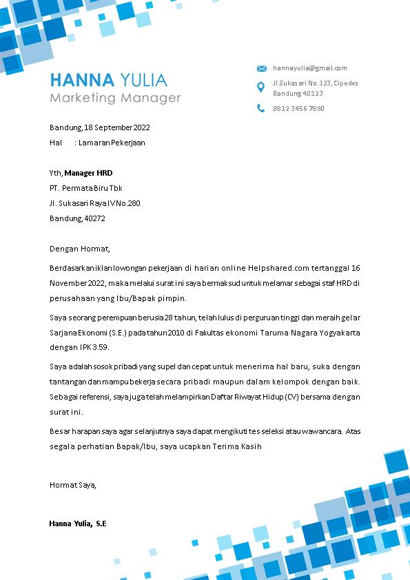 Kop Surat Lamaran Kerja 8
