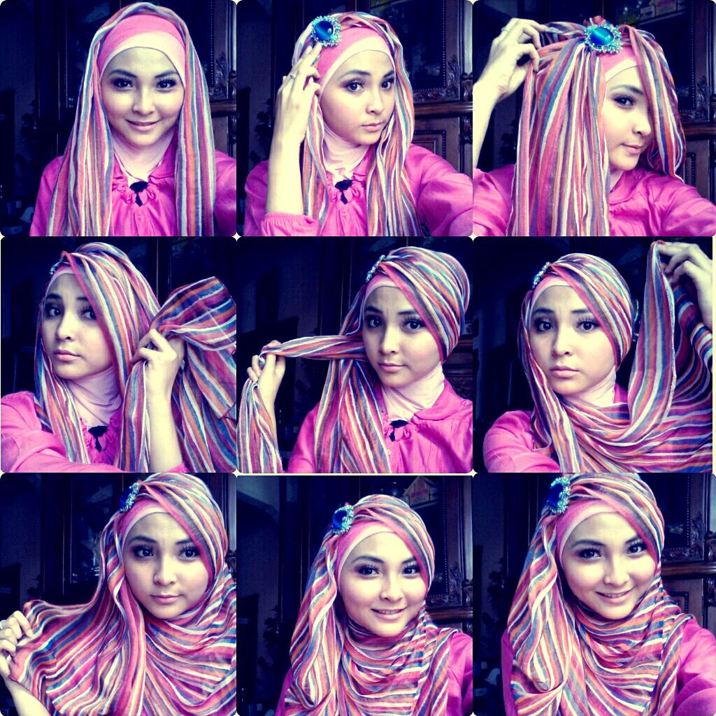 23 Ide Tutorial Hijab Paris Kreasi 2017 Tutorial Hijab Terbaru