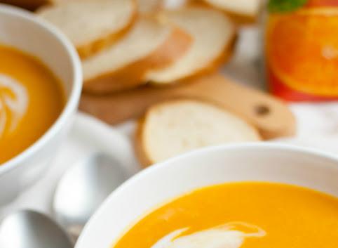 Słońce na talerzu, czyli krem z batatów z sokiem pomarańczowym