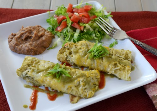 brisket and cheese enchilada, Grill Dome recipe, beef and green chiles enchilada