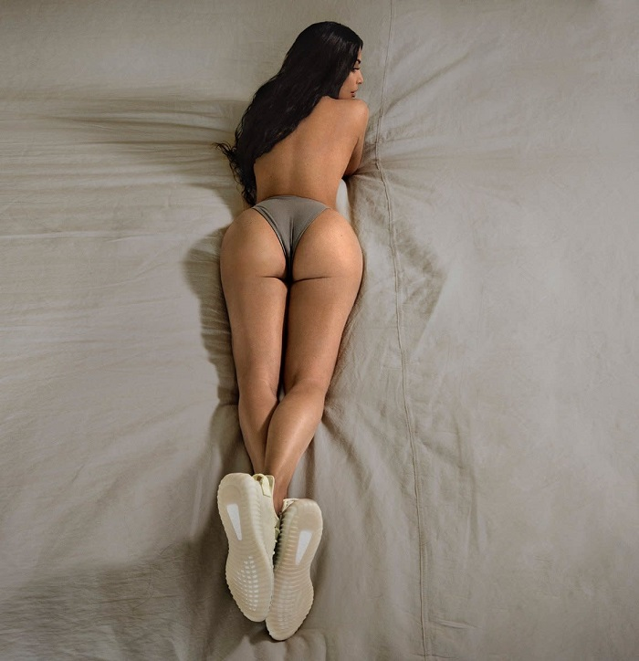 Kim Kardashian bares all in Yeezy's new sneaker campaign