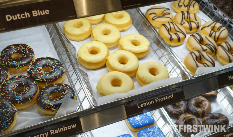 Dunkin' Donuts Netherlands chocolate frosted rainbow lemon maple drizzle